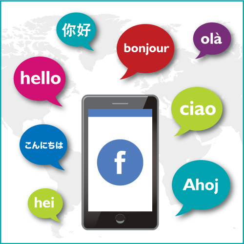 social media translation, translating Facebook