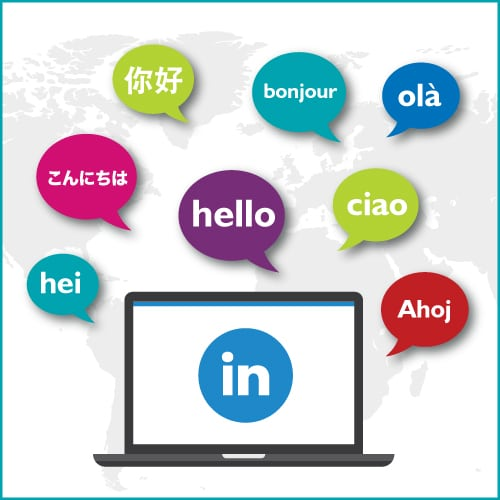 social media translation, translating LinkedIn