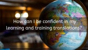 quality learning and training translations